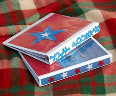 """""""Planning a road trip this Fourth? Keep kids in the holiday spirit by letting them decorate binders ahead of time with stickers and scrapbooking paper. Fill the binders with coloring pages or trivia questions and patriotic puzzles..."""""""