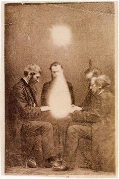 "John Beattie, ""Spiritual Seance"", c. June 1872, Albumen silver print"