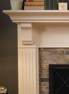 Family Room Stone Fireplace Mantel Design, Pictures, Remodel, Decor and Ideas - page 8 Fireplace Tile Surround, Fireplace Redo, Family Room Fireplace, Fireplace Remodel, Brick Fireplace, Fireplace Surrounds, Fireplace Design, Fireplace Mantels, Fireplaces