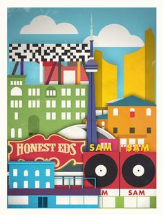 Touristique is a new series of creative posters by Moxy Creative House. They have designed 5 posters of cities like New York, London, Paris, Toronto and Gladstone Hotel, Amsterdam, Famous Castles, Urban Architecture, Best Cities, Paris, Travel Posters, Vintage Posters, Ideas