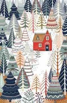 Wallpaper Winter Christmas Print Patterns Ideas For 2019 Christmas Design, Christmas Art, Winter Christmas, Vintage Christmas, Xmas, Christmas Patterns, Christmas Doodles, Christmas Paintings, Christmas Fabric