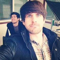 Ian selfie with Anthony in back - Smosh