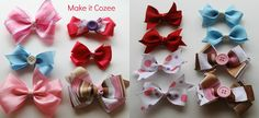Tutorial: How to Make Big Hair Bow Clips