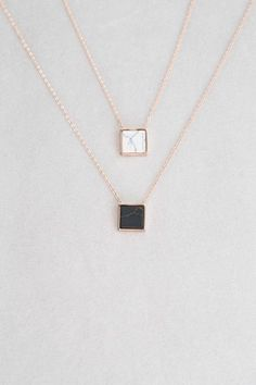 Emmy Stone Necklace | Rose Gold (14K) $16