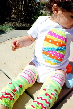 EASTER Egg Stripwork Baby GIRL Bodysuit Onesie Sizes 0 to 18 months on Etsy, $24.00
