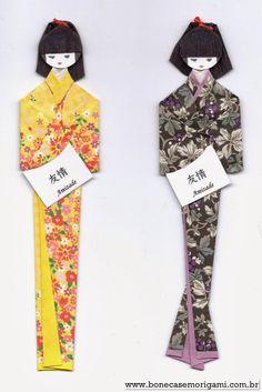 """Olá Todos esses belos modelos retirei do site """" Bonecas em Origami """" que conheci hoje. Foi mal, mas nã..."""