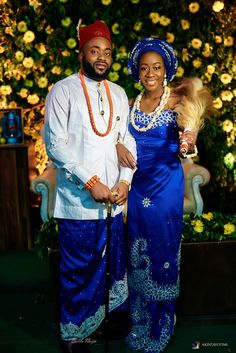 Fikayo and her sweetheart Chino tied the knot this January at the Beachfront, Landmark Centre, Lagos. It was a beautiful - BellaNaija Weddings. Nigerian Wedding Dresses Traditional, Traditional Wedding Attire, African Traditional Dresses, Traditional Outfits, African Bridal Dress, African Dress, Bridal Outfits, Bridal Dresses, Igbo Wedding