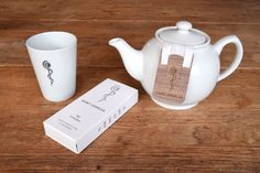 Saint Charles Tee Filterbox Set Innovative tea filter with T-clip made of fine walnut