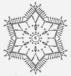Crochet motif chart.
