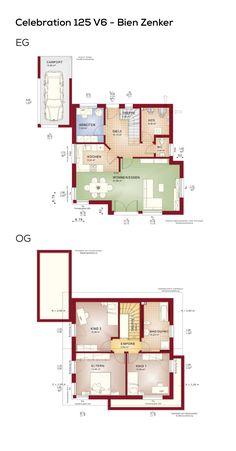 Grundriss Modernes Design Haus Mit Satteldach Architektur U0026 Carport Anbau    5 Zimmer, 124 Qm