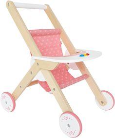 Amazon.com: Hape - Babydoll Stroller - Happy Doll Furniture: Toys & Games