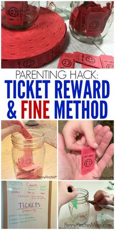 Parent Hack: Use the Ticket Reward & Fine Method to teach your kids responsibility.    Parenting Hacks | Parenting Tricks | Parenting Tips | Responsibility | Tips and Ideas for Kids  via @PennyPinchinMom