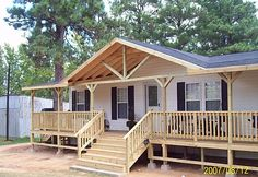 Top Deck Builder in East Texas / Longview Decks Mobile Home Porch, Mobile Home Exteriors, Mobile Home Renovations, Mobile Home Makeovers, Remodeling Mobile Homes, Home Remodeling, Porches For Mobile Homes, Kitchen Makeovers, Bathroom Remodeling
