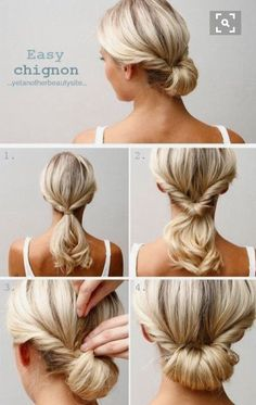 Hair styles for medium length hair tutorial wedding easy updo 40 Ideas Hair styles for m Easy Chignon, Chignon Hair, Chignon Tutorial, Short Hair Updo Tutorial, Updos For Medium Length Hair Tutorial, Updo Diy, Simple Updo Tutorial, Hair Tutorials For Medium Hair, Braids Easy