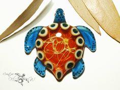 Golden Mother Earth Turtle Pendant Glass by CreativeFlowGlass  #turtle #blownglasspendant #universe #gift #spaceglass #tribal #necklace #seaturtle #falmework #glassart #creativeflowglass #borosale