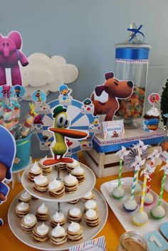 Yummy snacks at a Pocoyo birthday party! See more party ideas at CatchMyParty.com!
