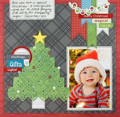 Our Newest Project Ideas: Be Merry Limited Edition Christmas Scrapbooking Layout Idea