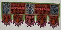 Door Toran Valance Embroidery Indian Vintage Handmade Wall Hanging Decor VR22 #Handmade