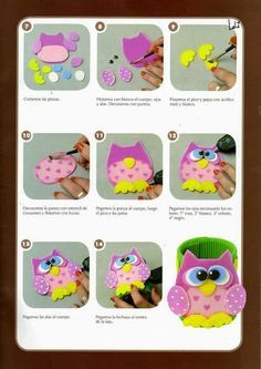 Revistas de manualidades Gratis  Muñecos para dedos en goma eva Más Foamy  Manualidades 26f6e1c15a0