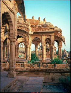 Bada Bagh, Jaisalmer is a garden complex about . - Bada Bagh, Jaisalmer is a garden complex about …. Indian Temple Architecture, India Architecture, Ancient Greek Architecture, Gothic Architecture, Varanasi, Udaipur India, India India, Jaipur, Places To Travel