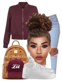 """Untitled #95"" by leshabest ❤ liked on Polyvore featuring New Look, NIKE and MCM"