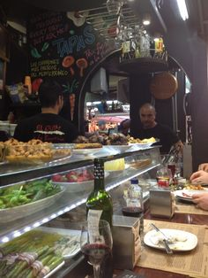 Tapas, La Boqueria, Baby Squid, Barcelona Travel, Coffee Shop, Restaurants, Spain, Shops, Eat
