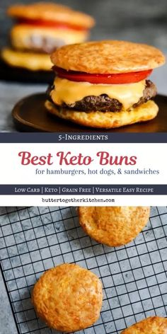 The Best Keto Buns – Shape your buns the way you want for burgers, hot dogs, and tacos. Keto Buns that actually taste good! The Best Keto Buns – Shape your buns the way you want for burgers, hot dogs, and tacos. Keto Buns that actually taste good! Best Keto Bread, Low Carb Bread, Low Carb Keto, Keto Mug Bread, 90 Second Keto Bread, Low Carb Burger, Keto Burger, Burger Dogs, Ketogenic Recipes