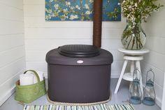 Biolan Kompostikäymälä Biolan Composting Toilet Cottage, Cottage Garden, Summer House, Home Decor, Composting Toilet, Trash Can, Toilet, Inspiration, Doors