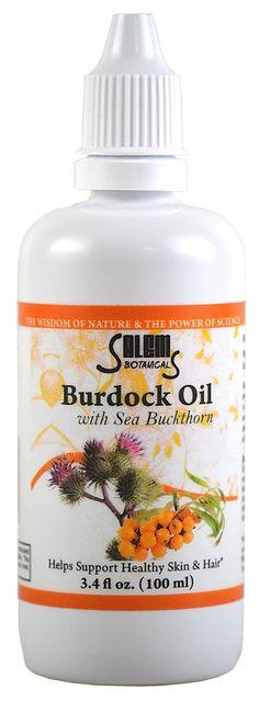 Salem Botanical Burdock Oil with Sea Buckthorn, 3.4 Fluid Ounce -- Click on the image for additional details. #haircare