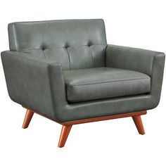 The Queen Mary chair captures the essence of Mid-Century style that refuses to fade into obscurity. The gorgeous smoke grey eco leather is welcoming and adds..