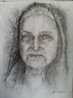 Pencil on paper 42x29.7 cm  by me Audet Hyder