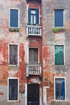 Old Doors and Windows, Venice, Italy (Travel Photography, Wall Art, Architecture)