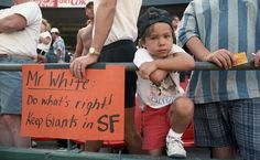 OMG...look at that face!! 1992 5-year-old Brandon Crawford couldn't hide his emotions during what was believed to be the final Giants game at Candlestick. Photo: Tom Levy, The Chronicle