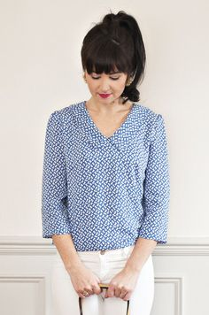 Susie Blouse (previously known as the Ultimate Blouse!) A true staple, the Susie Blouse has three variations - casual short sleeves, a chic length sleeve or a smart long sleeve with a cuff Sew Over It Patterns, Dress Making Patterns, Blouse Patterns, Clothing Patterns, Blouse Sewing Pattern, Simple Blouse Pattern, Pattern Fabric, Pants Pattern, Make Your Own Clothes