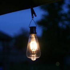 Vintage Edi-Sol Solar Light Bulb (Set of 2) - EchoValley.com Solar Light Bulb, Solar Lights, Patio Umbrellas, Vintage Fashion, Vintage Style, Hand Blown Glass, Light Up, Bulbs, Landscape