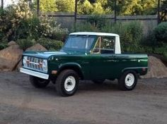 1969 Ford Bronco - Forrest Green Pickup with White Top