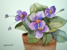African Violets by Barbara Joan