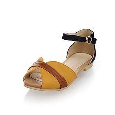 sandalias peep toe de cuero sintético pisos y fiesta / noche, los zapatos (más colores) – EUR € 16.49