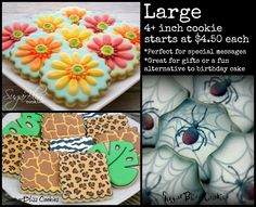 SugarBliss Cookies: Pricing. I like how she sets up the pricing!
