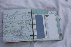 SOTR - love the map paper, the patterns and details on the inserts and the fun little embellishments on the edges