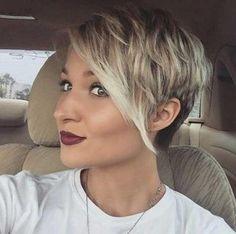 inspiracje blond krótkie włosy