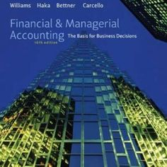 Financial managerial accounting students book 13th edition solution manual downloadable for financial and managerial accounting 16th edition williams fandeluxe Image collections