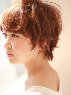 Japanese Hairstyle for summer side view