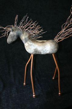 Horse Art by Vonnie   Wired…raku..mixed media