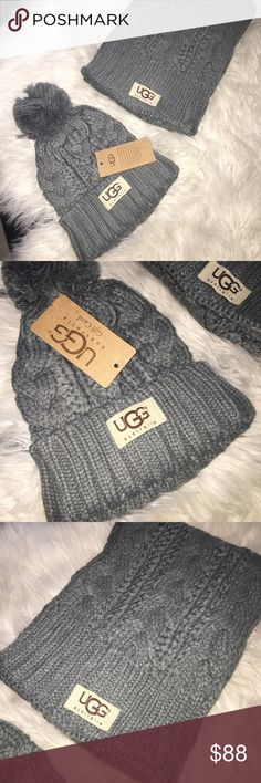 1250db46219 Shop Women s UGG Gray size OS Scarves   Wraps at a discounted price at  Poshmark. Description  Ugg Australia set scarf and hat Nwt.
