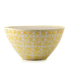 Look what I found on #zulily! Sunshine Yellow Lisbon Salad Serving Bowl by Bambeco #zulilyfinds