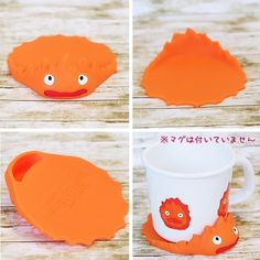 Calcifer cup and coaster.