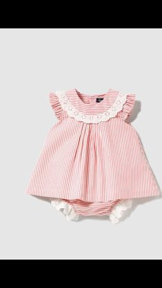 Baby Girl Fashion, Toddler Fashion, Kids Fashion, Skirts For Kids, Baby Dress Patterns, Baby Embroidery, Baby Doll Clothes, Vestidos Vintage, Baby Girl Dresses