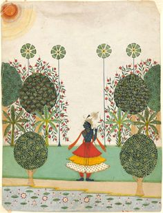 Krishna Fluting in the Forest Rajasthan ca. 1720