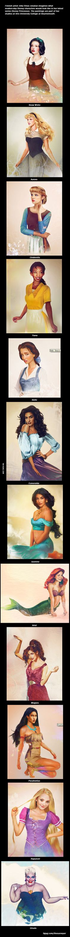 Disney Princesses - How would they look in real life.